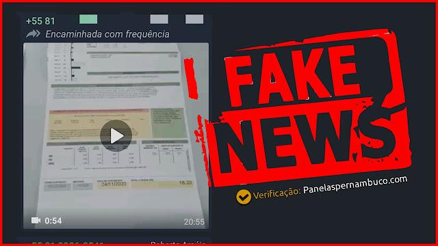 FAKE NEWS - GOLPE DE BOLETO NA CONTA DA CELPE