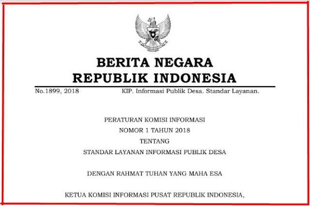 Standar Layanan Informasi Publik Desa Menurut Peraturan Komisi Informasi Nomor  Standar Layanan Informasi Publik Desa Menurut Peraturan Komisi Informasi Nomor 1 Tahun 2018