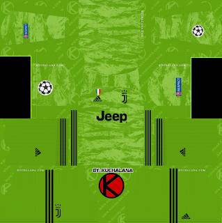 Juventus 2019/2020 Champions League Kit - Dream League Soccer Kits