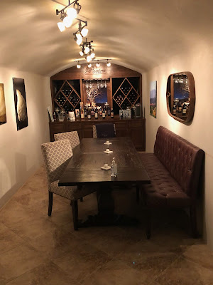 Intimate tasting area at Porter Family Vineyards