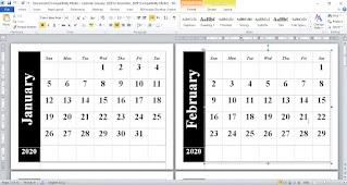 Cara Membuat Kalender Sendiri Menggunakan Microsoft Word dan Excel