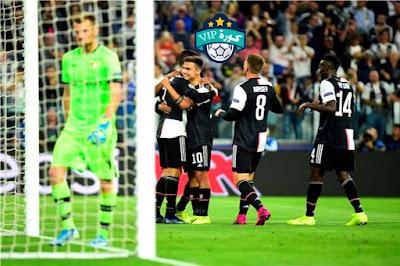 جو فور كورة مباراة يوفنتوس وباير ليفركوزن دوري ابطال اوروبا