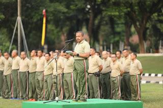 Aspers Kasad : Olahraga Bersama Wadah Silaturahmi Korpri TNI AD