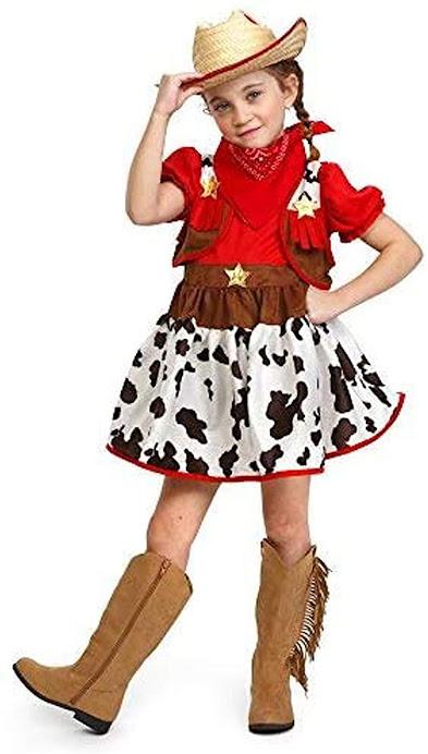disfraz - vaquera - vaca - niña - vacaslecheras.net