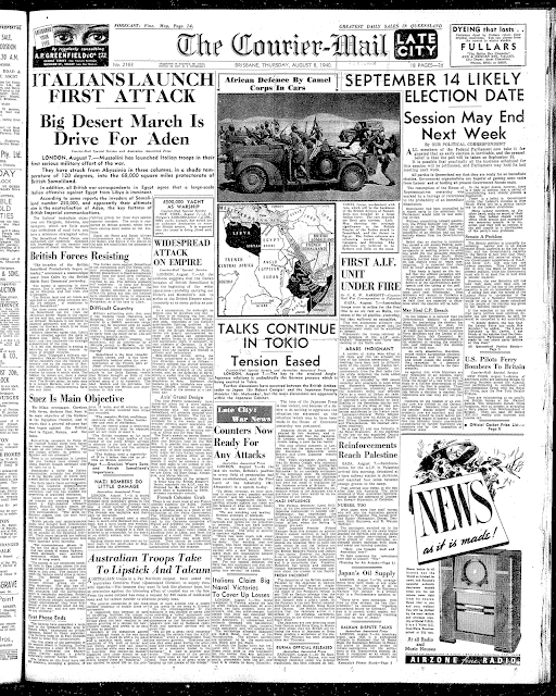 8 August 1940 worldwartwo.filminspector.com Brisbane headlines