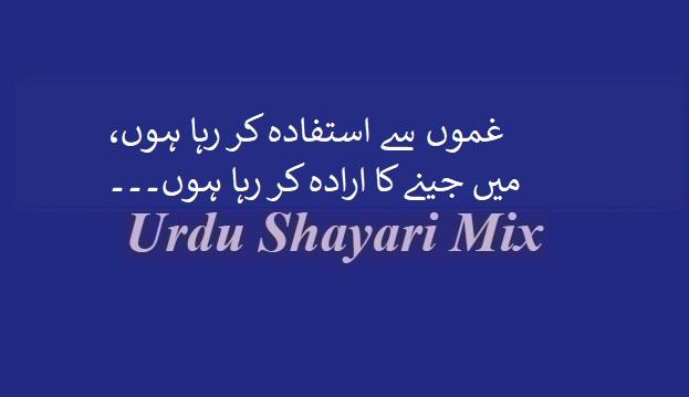 Hindi poetry, Urdu poetry, غموں سے استفادہ کر