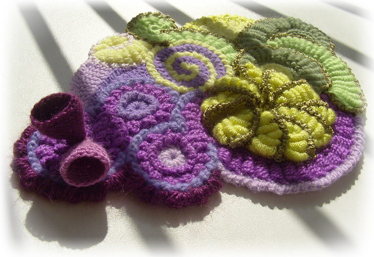 Tutorial Broche de Crochet Retorcido