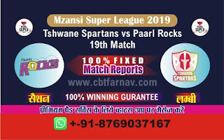 Mzansi Super League Paarl vs Spartans 19th Match Prediction Today Reports