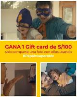 Promoción: Metro Gana: 3 GIFT CARDS DE S/100 PARA PAPÁ