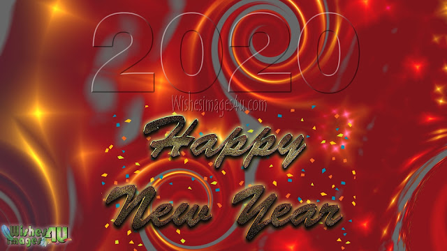 Happy New Year 2020 Red Golden Background Download