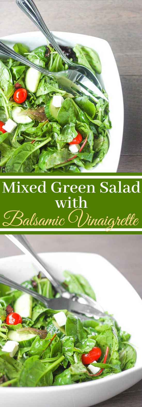 Mixed Greens Salad with Balsamic Vinaigrette #healthy #salad #lunch #glutenfree #diet