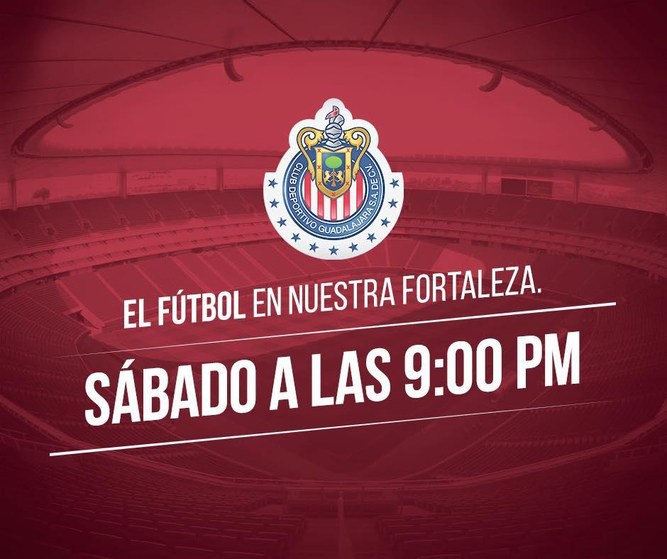 Chivas anunció nuevo horario para el Apertura 2016.