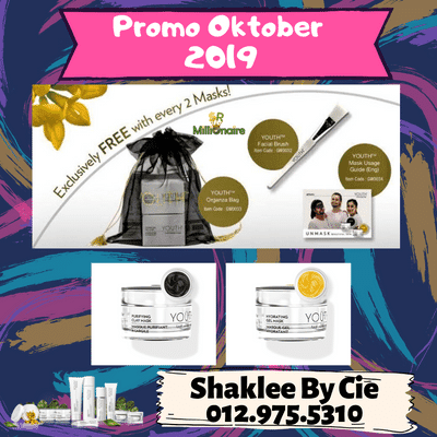 PROMO SHAKLEE OKTOBER 2019 YOUTH MASK