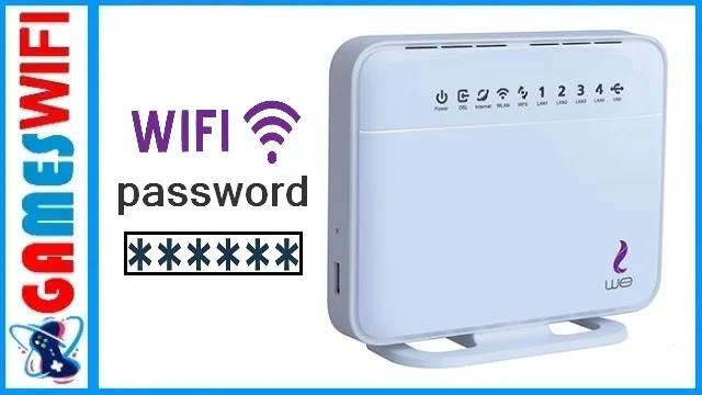 كيفية تغيير باسورد الواى فاى راوتر وي الجديد | WE ADSL