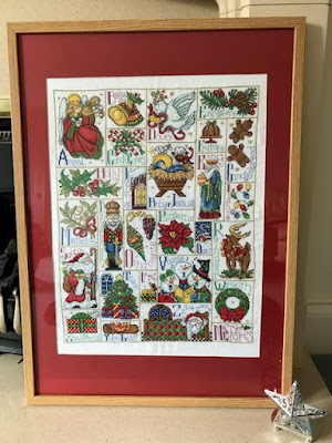 Christmas ABC cross stitch sampler