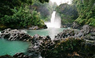 Huilo Huilo Falls, South of Chile.