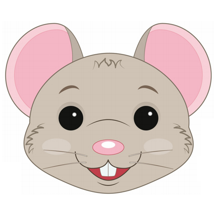 Rat mask printable masks for children for Printable mouse mask template