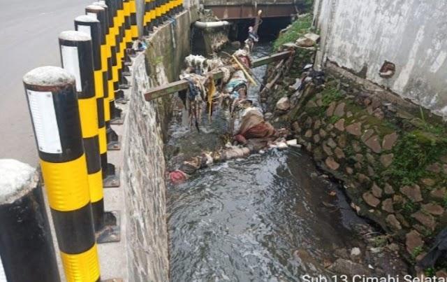 Satgas Citarum Sektor 21-13 Angkat Sampah Sebanyak 130 Kg Dari Sungai