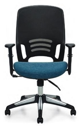 Mesh Task Chair with Blue Seat