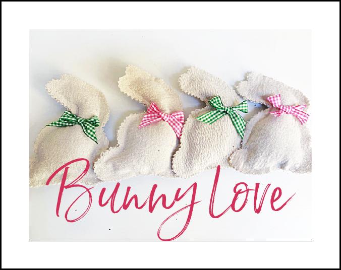 framed row of bunnies with overlay
