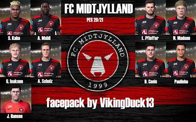 PES 2021 FC Midtjylland Facepack by VikingDuck13