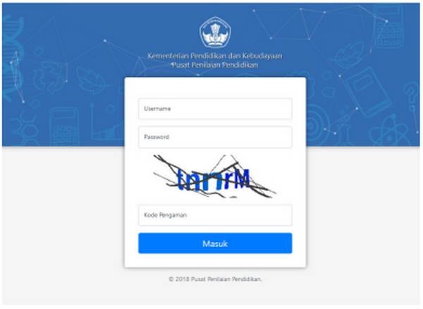 Cara Login Aplikasi Pendataan Capes UN SD/MI Tahun Ajar 2018/2019
