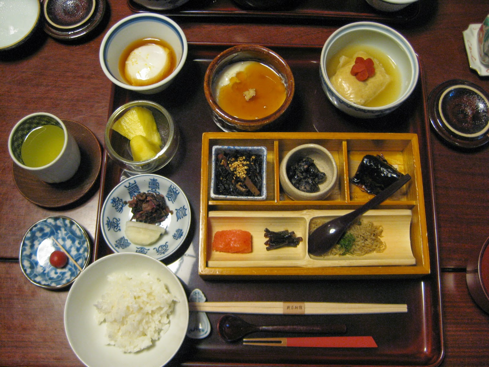 Kyoto - Breakfast of various small dishes