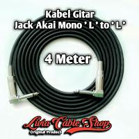 Kabel gitar 4 meter jack akai mono ' L ' to akai mono ' L '