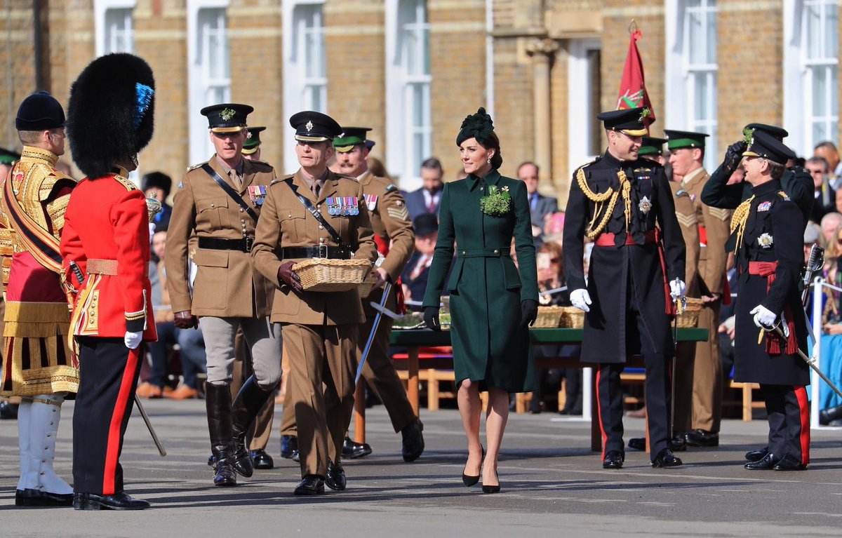 The British Royal Family has a long standing connection with the St. Patrick's day.