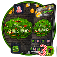 Merry Christmas 3D Glass Tech Theme  Apk free Download for Android