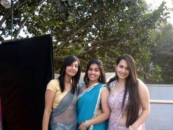 College Girls Hot In Saree