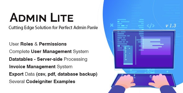 Admin Lite php script–PHP Admin Panel + User Management