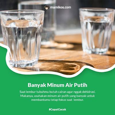 Tips Bugar Buat Si Rajin Lembur dengan Banyak Minum Air Putih