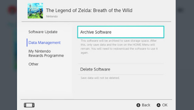 Nintendo Switch Delete Save Data