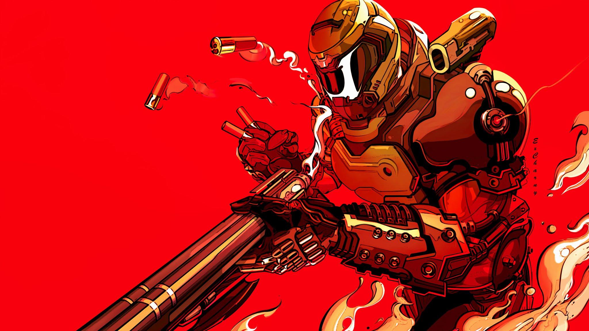 Doom Eternal Fanart 4k Wallpaper