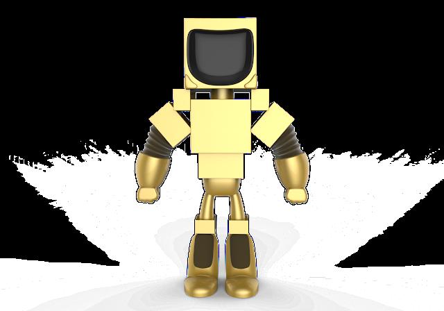 Robot 3d model free download obj,maya,low poly