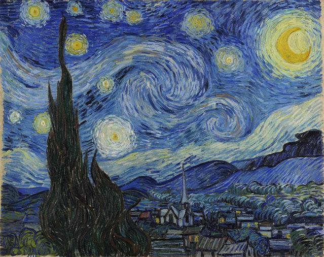 """Quadro """"Noite estrelada"""", Vincent Van Gogh"""