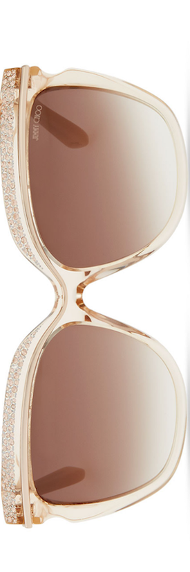 Jimmy Choo Sophia Embellished Sunglasses, Nude