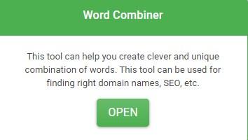 Word Combiner Alat ini dapat membantu Anda membuat kombinasi kata yang cerdas dan unik. Alat ini dapat digunakan untuk menemukan nama domain yang tepat, SEO, dll.
