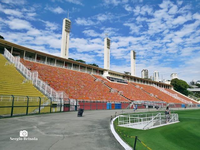 Vista ampla do Setor Laranja do Estádio do Pacaembu - São Paulo