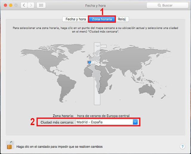 OSX El Capitán: Sincronizar un equipo con  nuestros servidores de tiempo de confianza