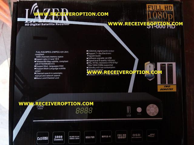 LAZER ST-600 HD RECEIVER POWERVU KEY NEW SOFTWARE