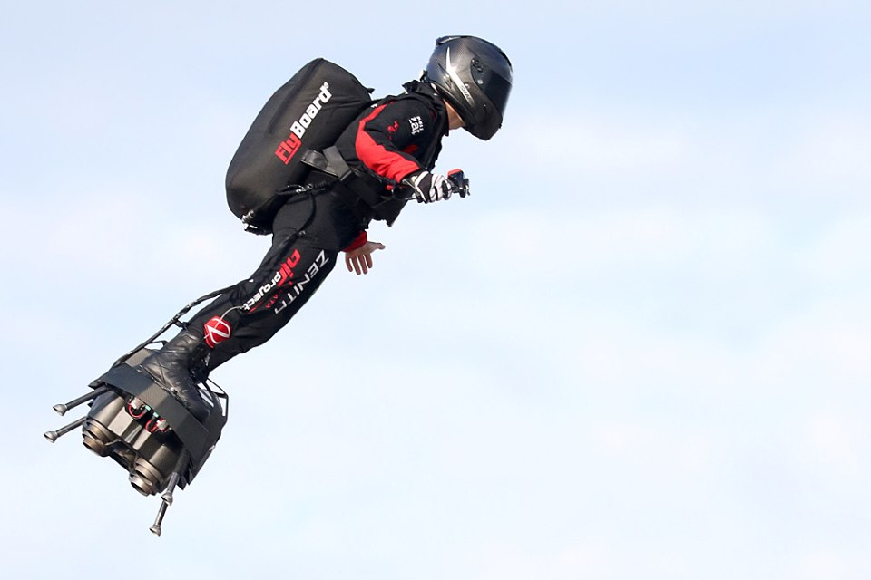 French inventor successfully crosses English Channel on hoverboard