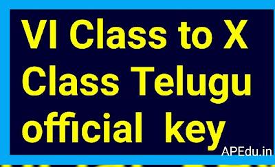 VI Class to X Class Telugu official  key