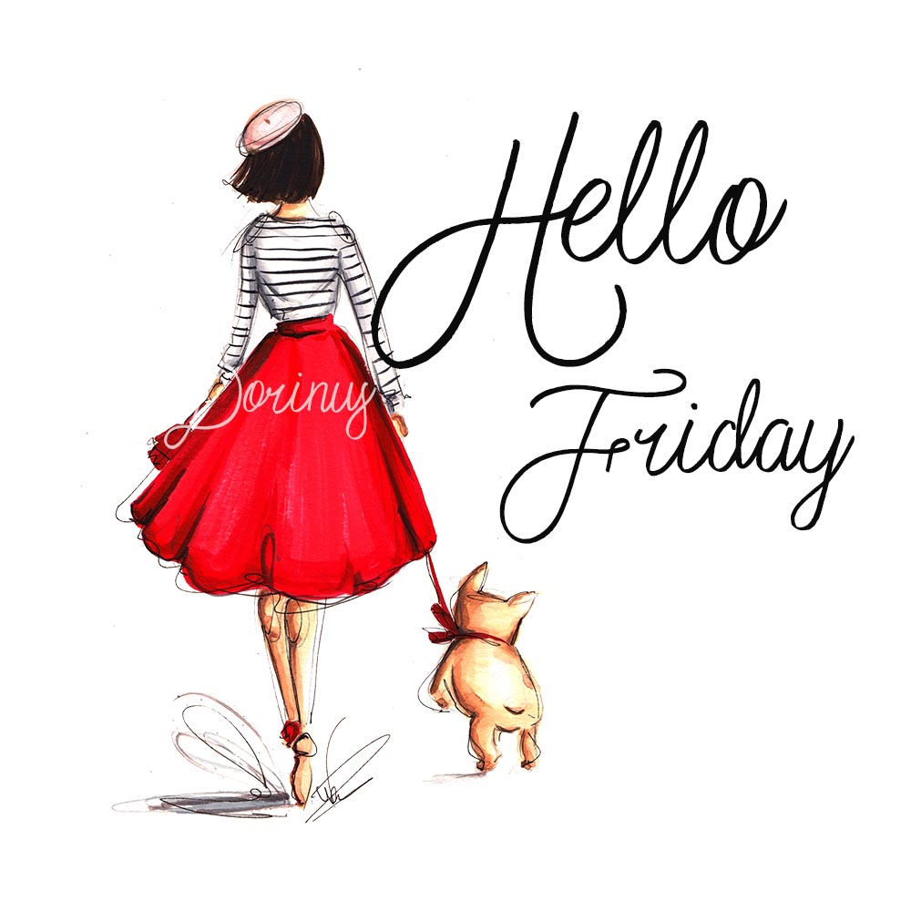 Daily illustration: Hello Friday!
