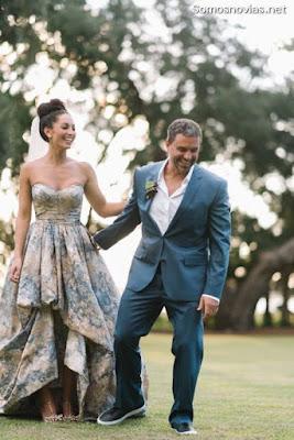 Vestidos de novia color azul