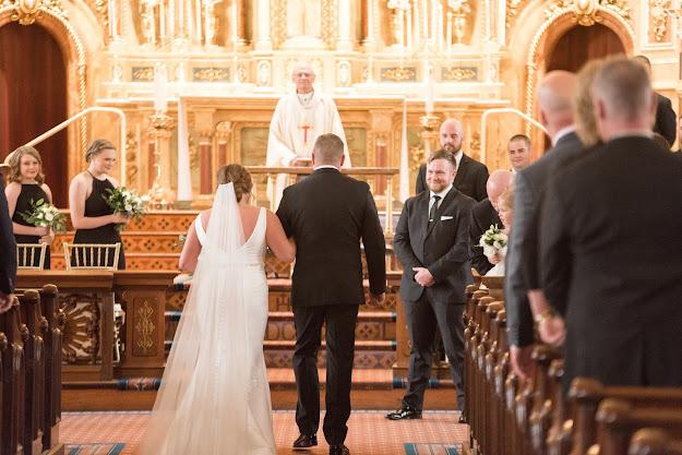 St. John Apostle and Evangelist St. Louis Wedding Photographer, Black white gold wedding