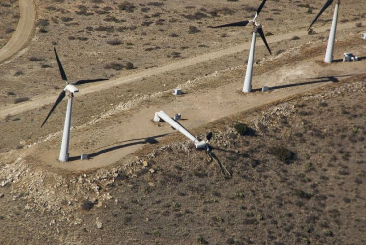 Wind Turbine Down - Source: NOAA.gov