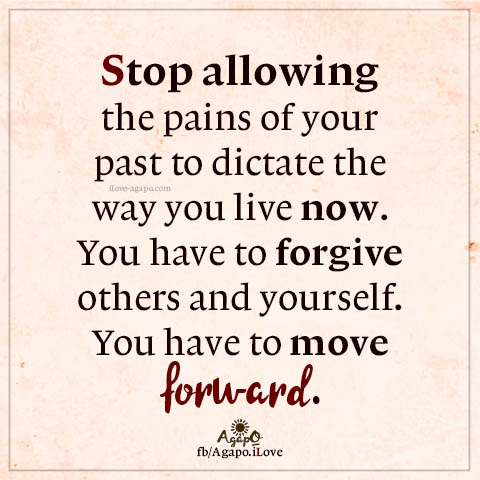 Stop allowing the pains of your past