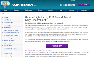 IvoryResearch.net Dissertation Writing Service Picture